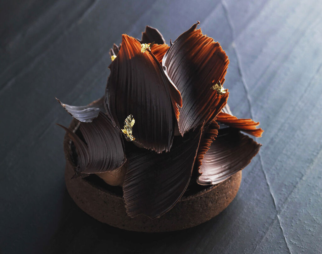 Chocolate and Salted Caramel Tart by Alistair Birt.