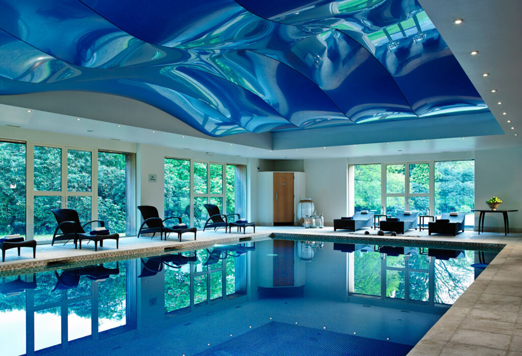 The swimming pool at Grayshott Health Spa