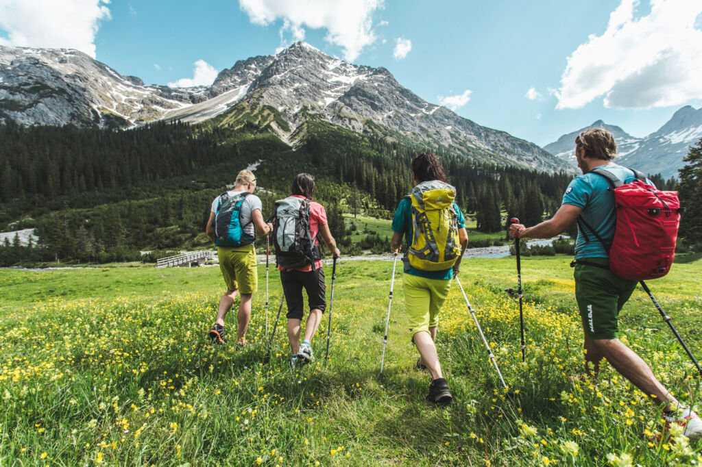 Hiking in Lech.