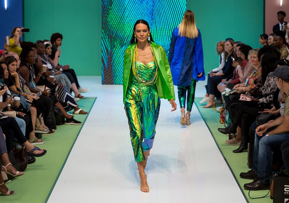 One of the catwalk shows at Pure Loondon.