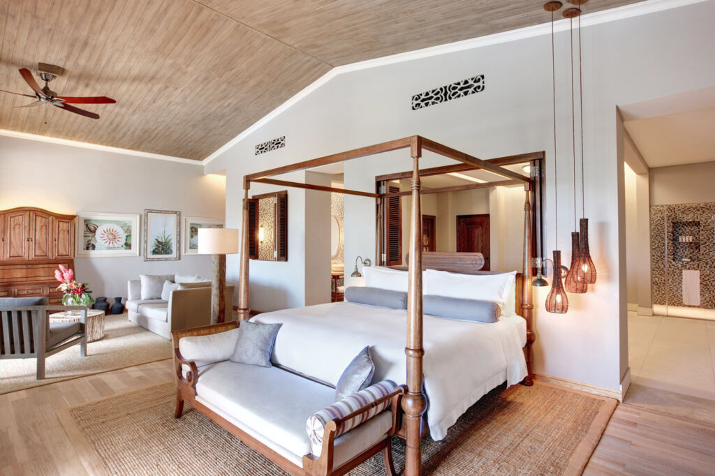 Inside one of the St. Regis Mauritius Resort's Manor House suites.