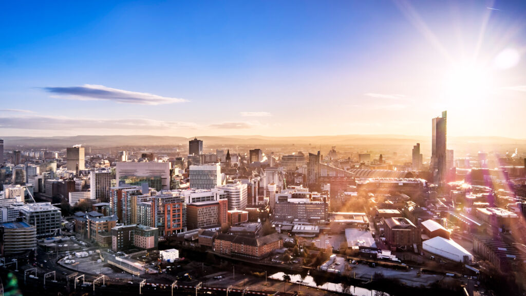 View over the City of Manchester