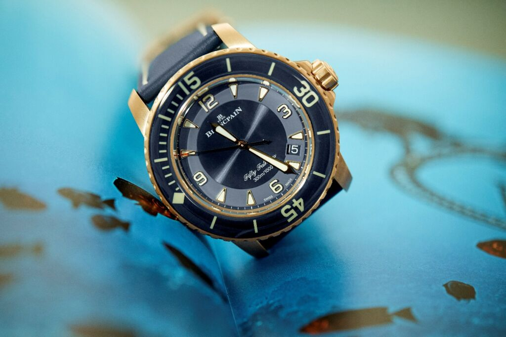 Blancpain's Fifty Fathoms Diver's Watch Gets Stylish New Blue Ceramic Face 2