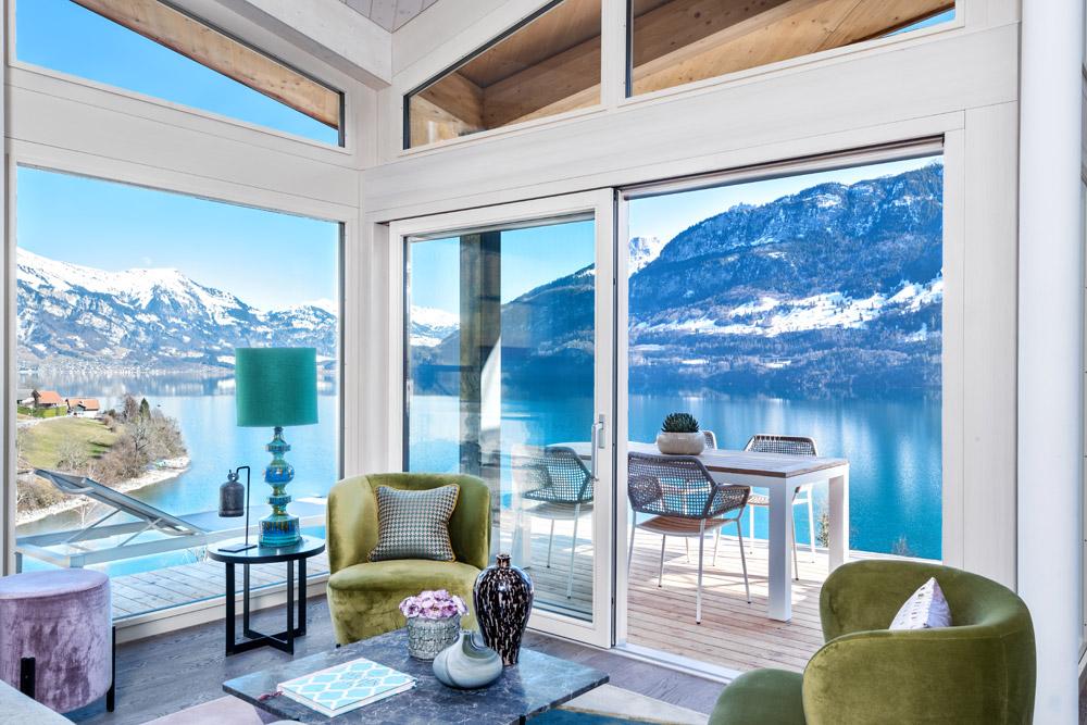 Lake Brienz near Interlaken in Switzerland