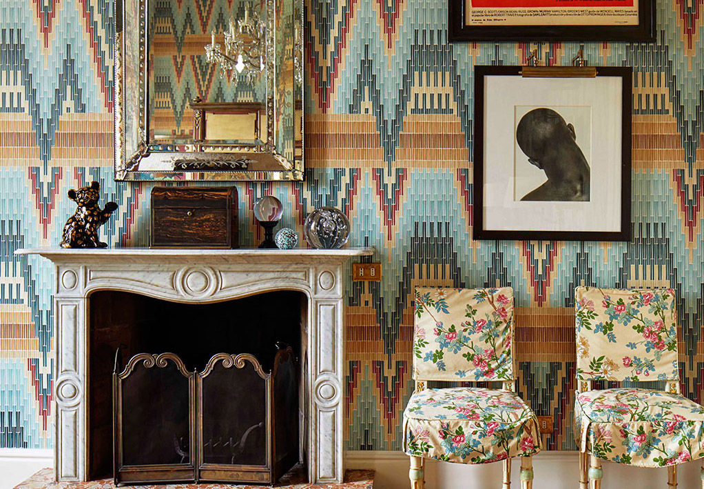 Bargello wallcovering by Fromental.