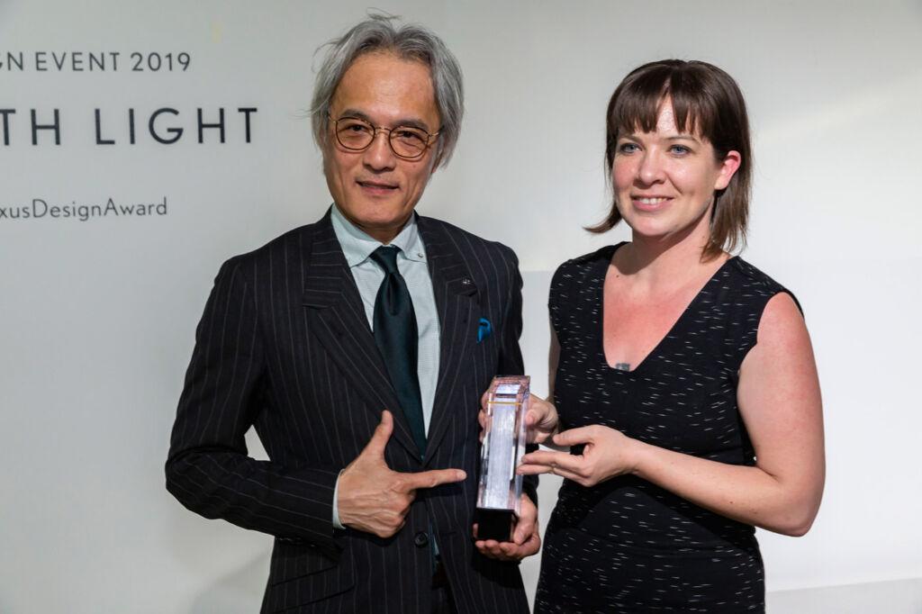 Right: Lisa Marks, Grand Prix Winner of Lexus Design Award 2019; Left: Yoshihiro Sawa, President, Lexus International