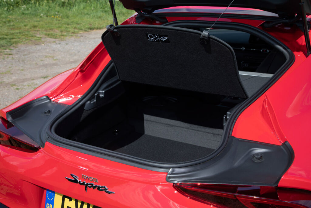 Rear luggage space with the Toyota GR Supra 3.0L