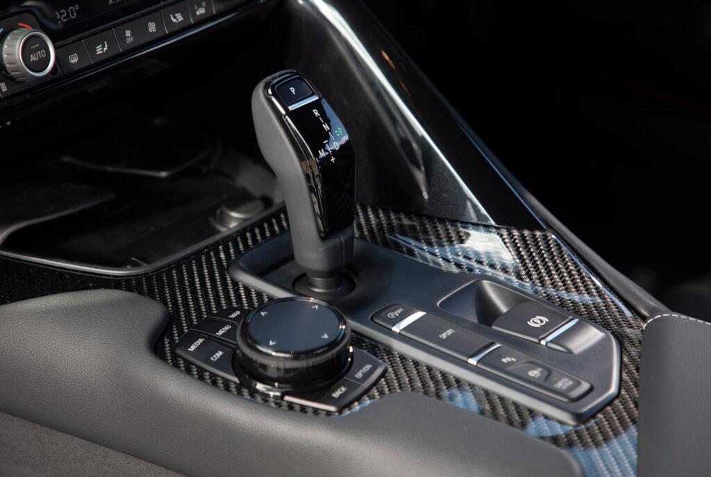 The Toyota GR Supra 3.0L gear selector