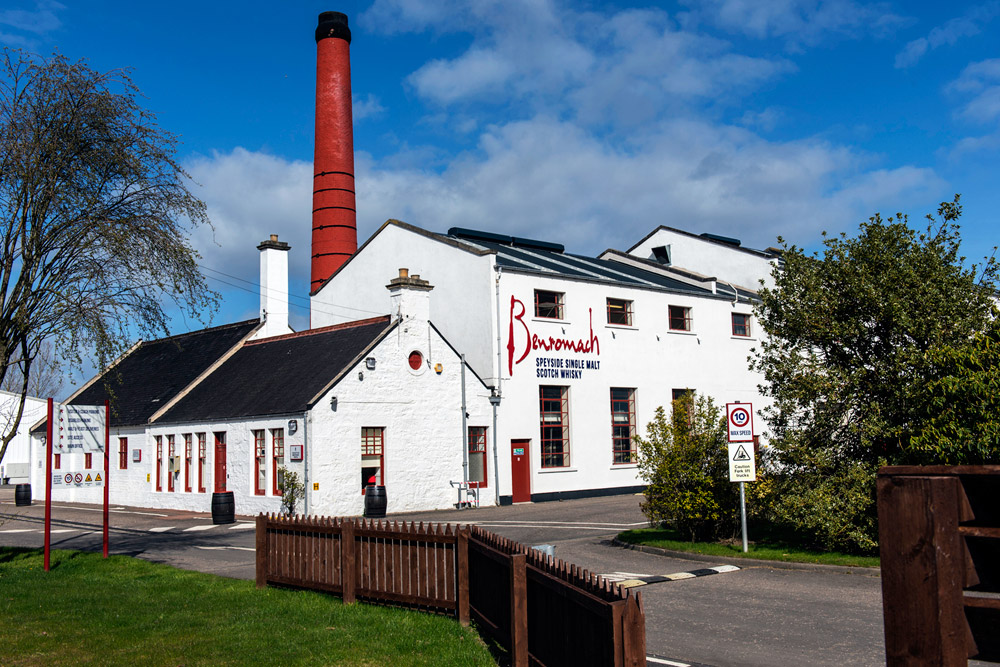 The Benromach Whisky Distillery in Speyside.