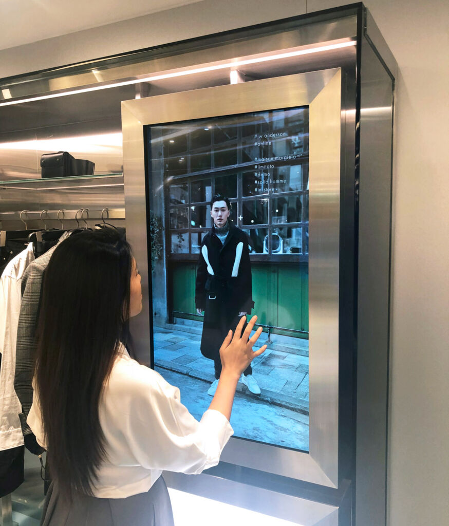 The interactive touchscreens at Harvey Nichols.