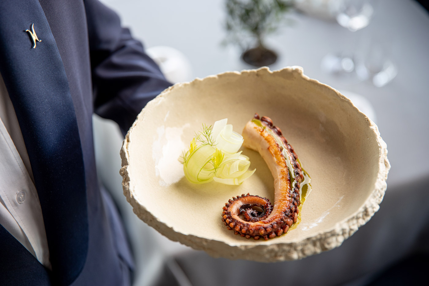 Octopus and celery, a tradition at Hotel Eden.