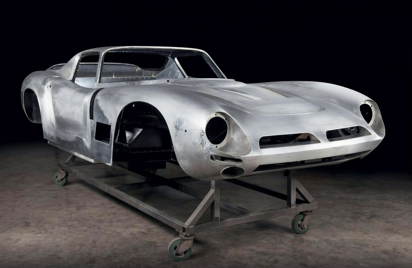 The Thornley Kelham Bizzarrini 5300 GT Strada stripped.