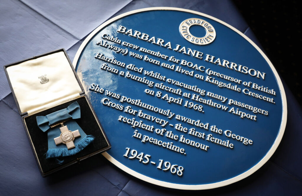 Blue Plaque for Former BOAC Cabin Crew Member Barbara Harrison