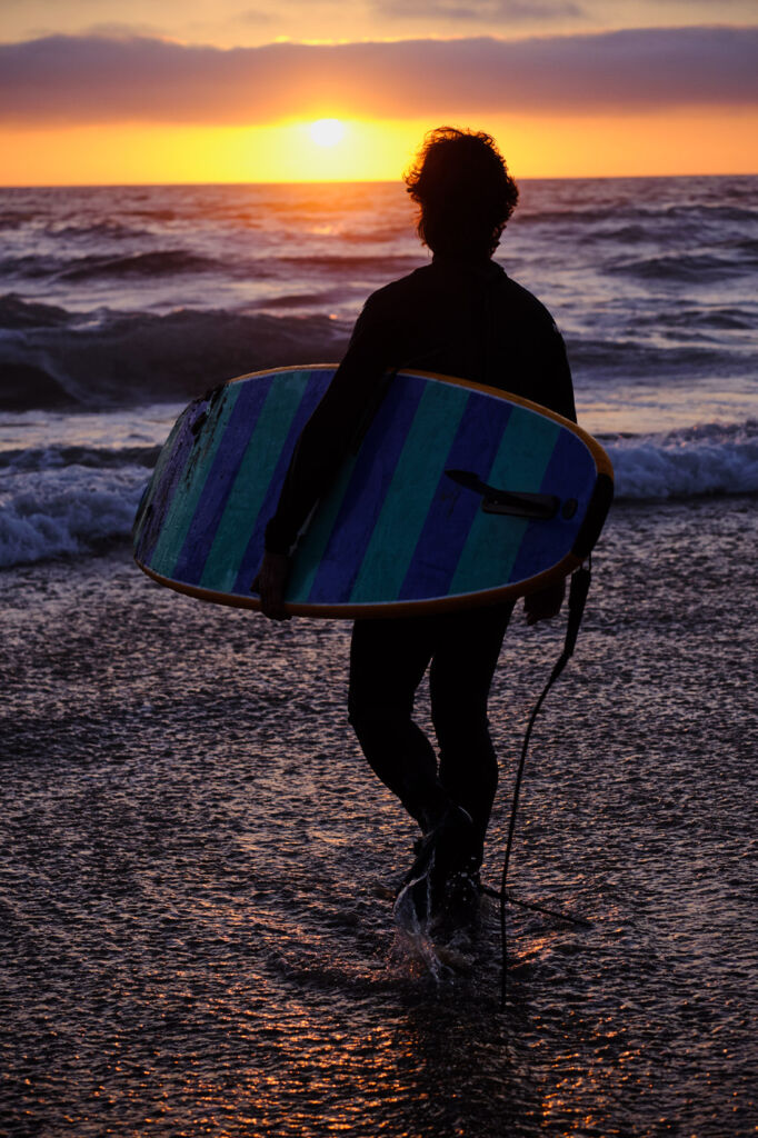 Surfing is one of the big attractions at Dana Point.