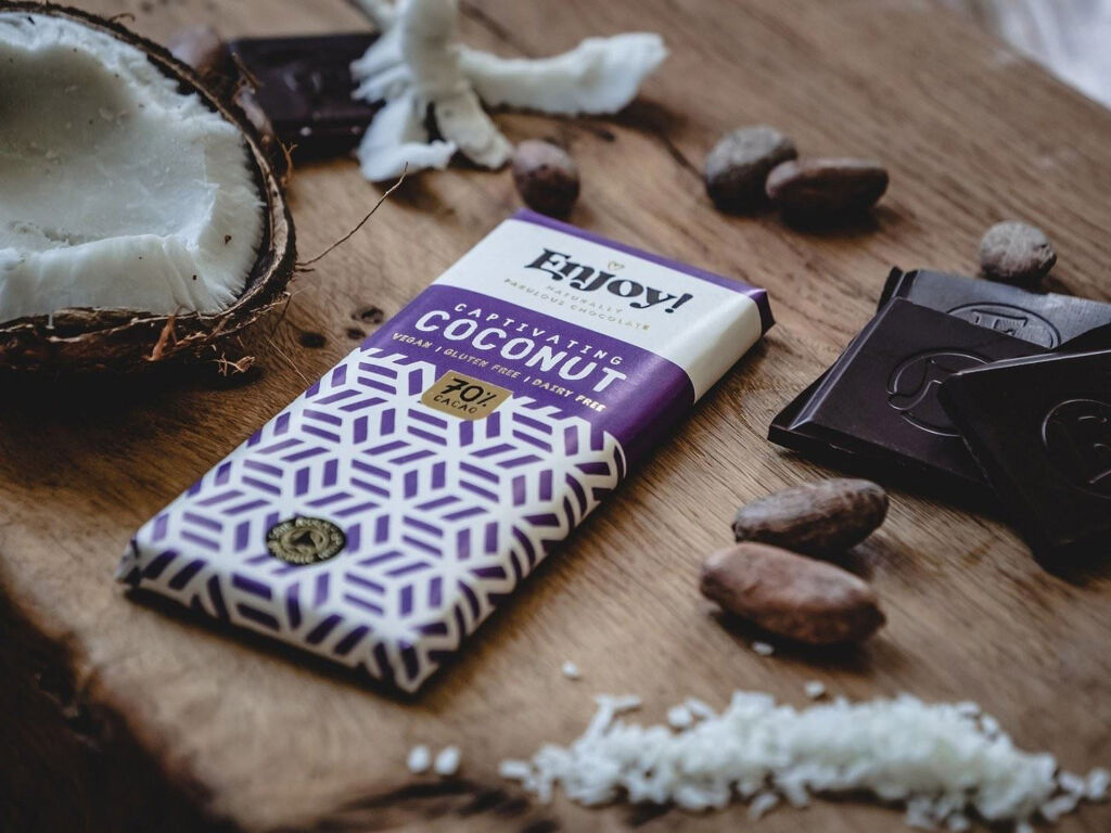 Enjoy! Captivating Coconut Chocolate Bar