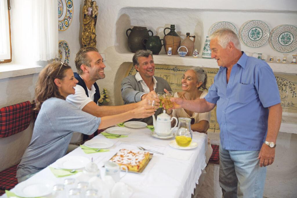 Enjoying a coffee and cake in Slovakia