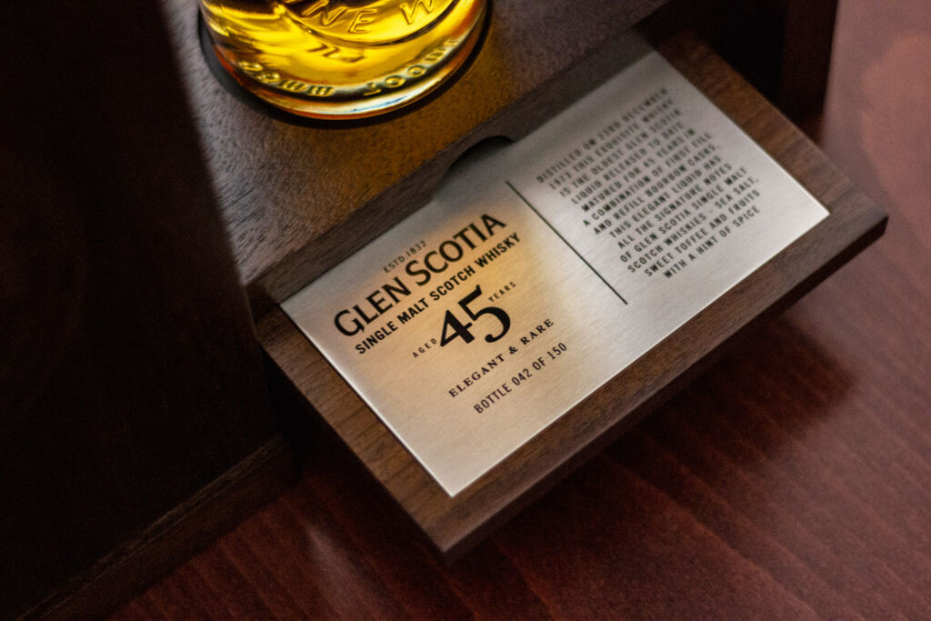 Each of the Glen Scotia 45 Year Old Single Malt's is unique.