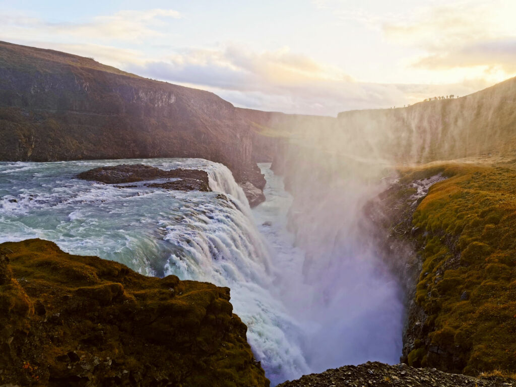 Gulfoss waterfall during the Golden Circle tour