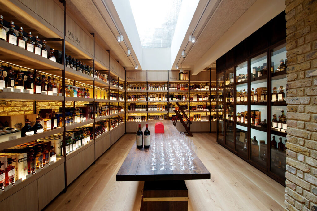 Inside Hedonism Wines.