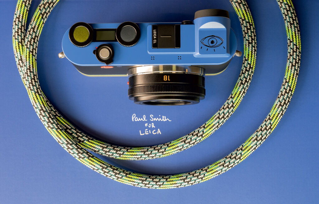 The Leica CL 'Edition Paul Smith' has a unique sketch on top of it