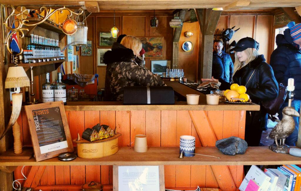 Inside Iceland's Rekya Bar in Iceland.