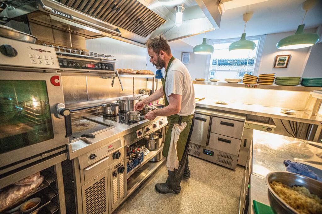 Martin in the kitchen at The Arbury in Baldock