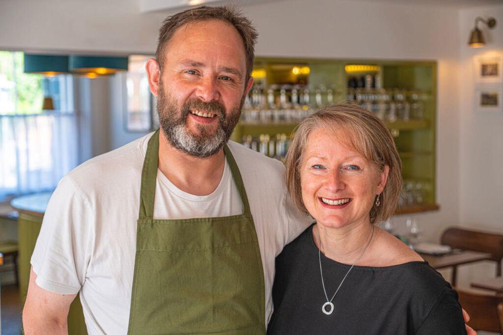 Martin Nesbitt and partner Lucy Thompson at The Arbury in Baldock.