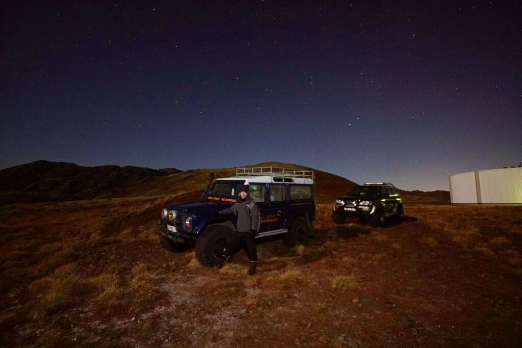 The 4X4 vehicles for our Northern Lights adventure