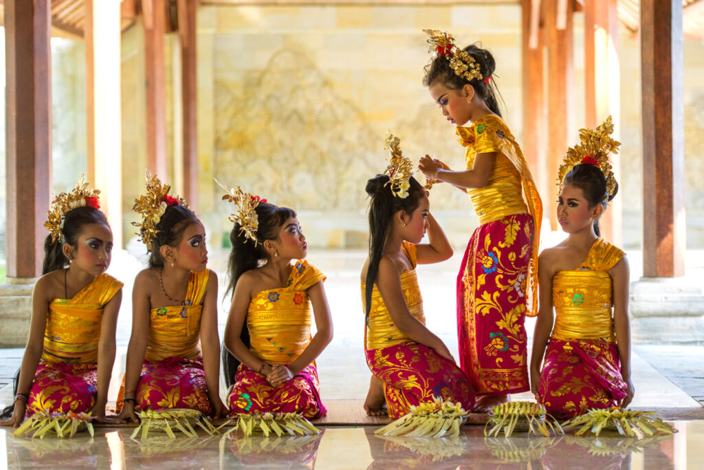Young Balinese dancers at the Amandari.
