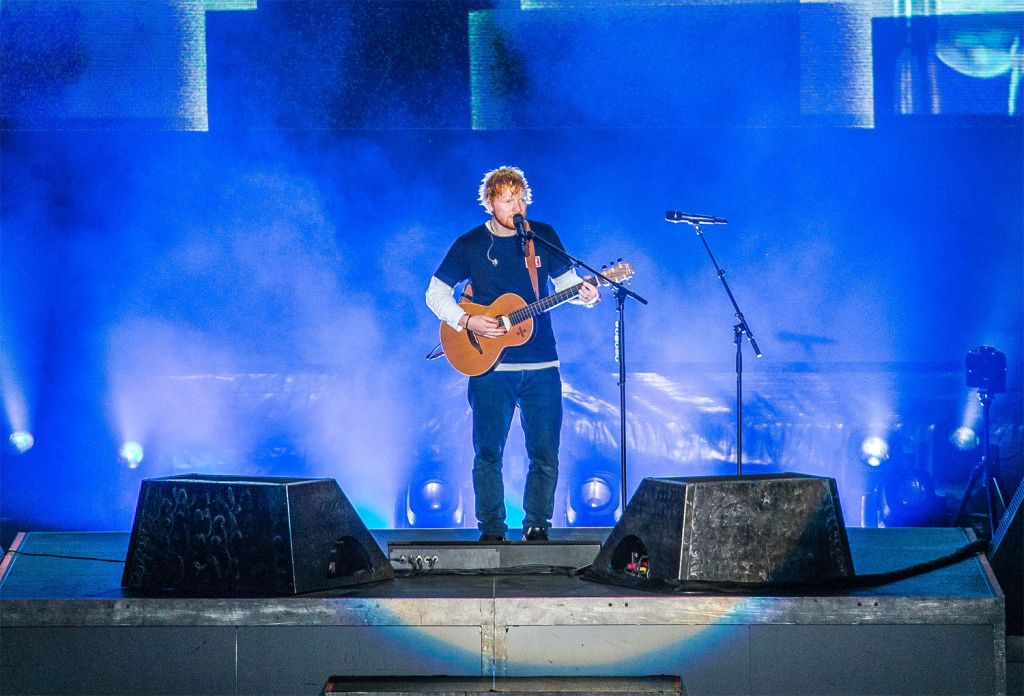 Ed Sheeran on-stage at the Sziget 2019 Festival