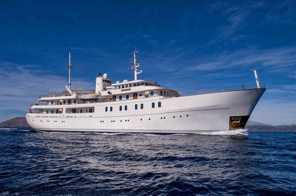 The 69.7-metre motor yacht Sherakhan