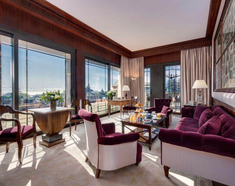 Hotel Metropole Monte-Carlo penthouse suite lounge