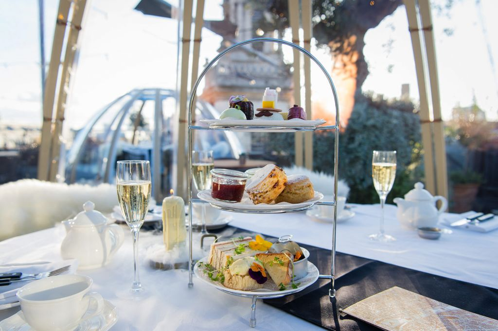 Afternoon tea in the Vintry & Mercer popup igloo in London
