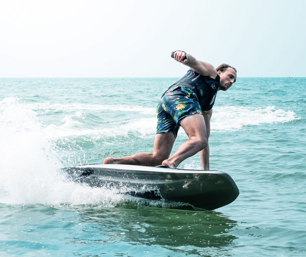 The 35 mph board is designed to thrill