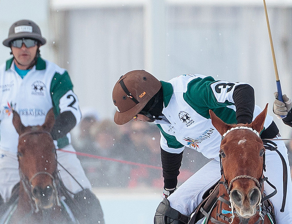 Azerbaijan Snow Polo team in action