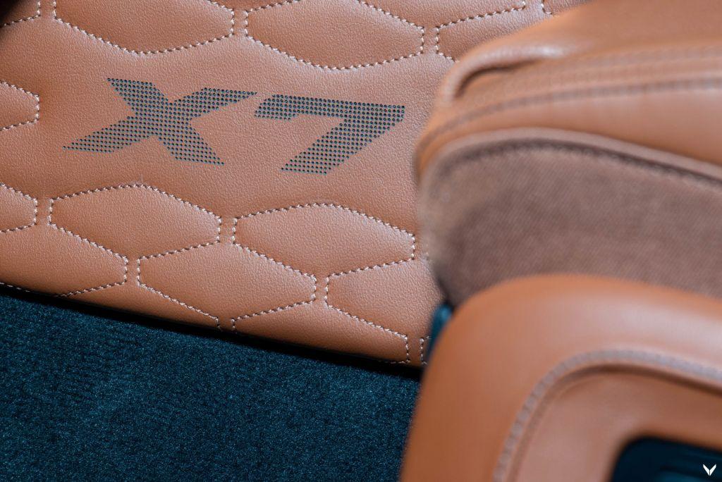 Perforated 'X7' logos