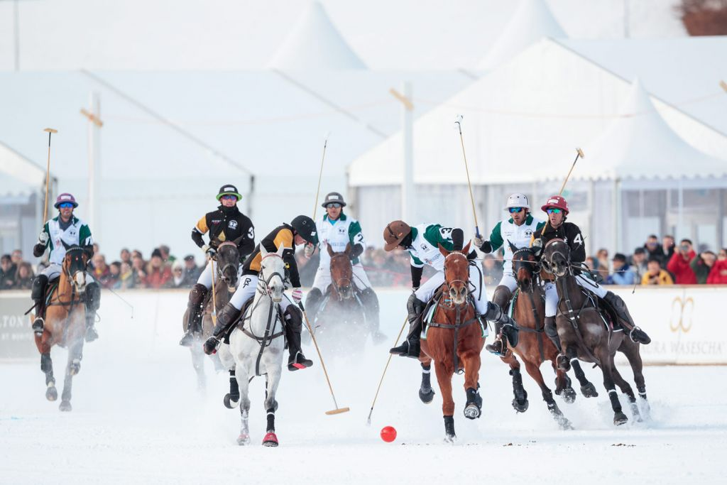 Badrutts Palace vs Azerbaijan Land of Fire Snow Polo World Cup St Moritz 2020