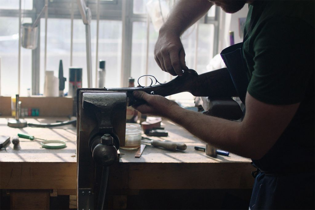 Boss & Co uses traditional methods in its Gunmaking