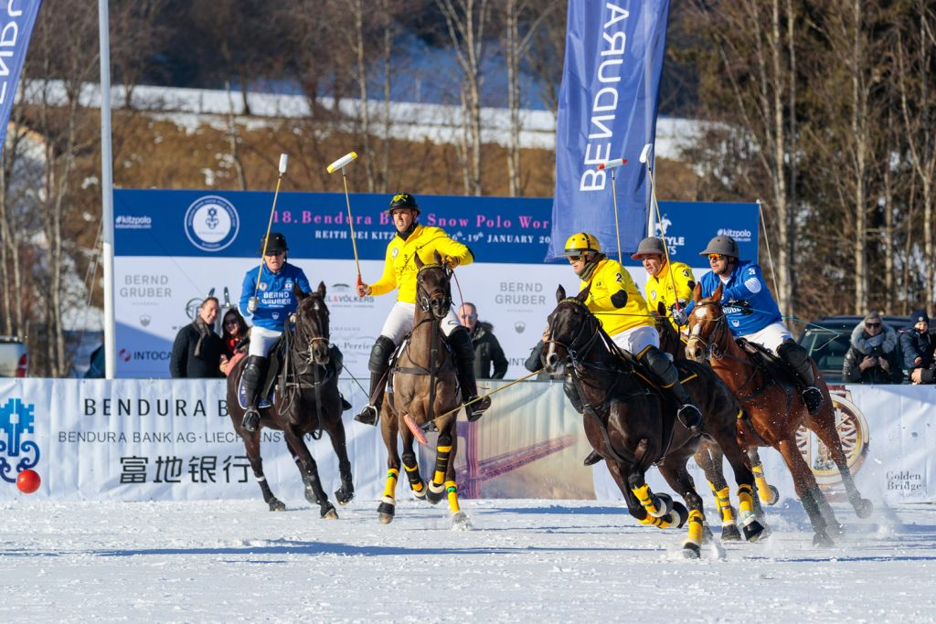 CORUM team at the 18th Bendura Bank Snow Polo World Cup Kitzbühel 2020