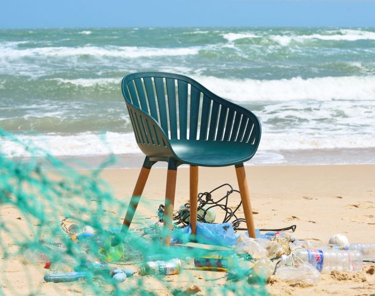DuraOcean chairs made from recycled waste plastic found in the sea