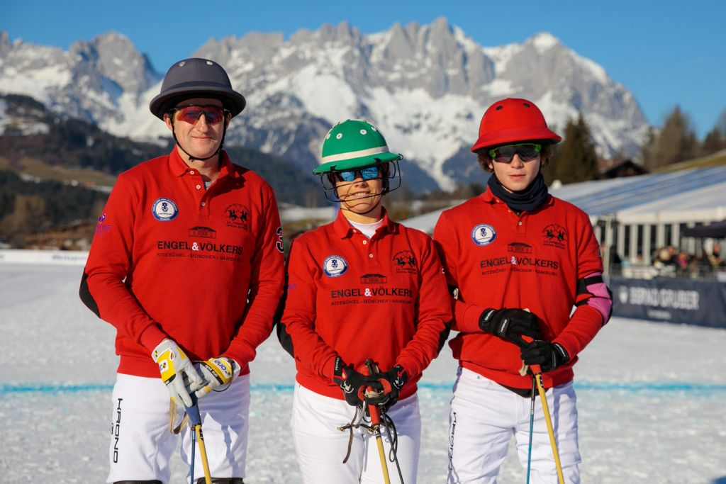 Engle & Volkers team at the 2020 Snow Polo World Cup Kitzbühel