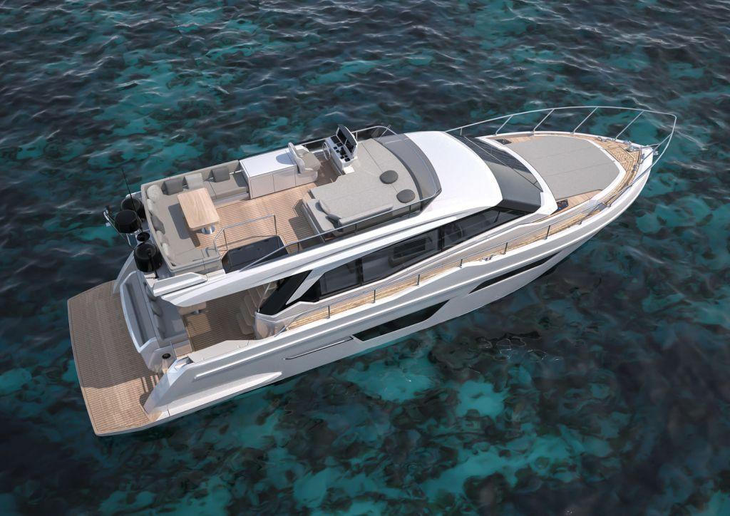 Ferretti Yachts 500 aerial view