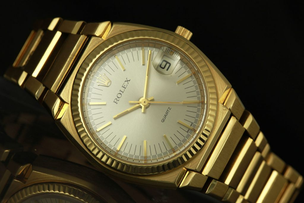 Gold Rolex REF 5100 at VO Vintage Italy