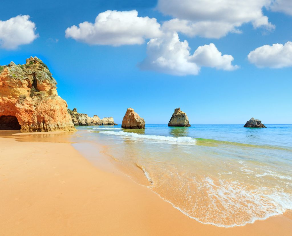 Gold Sandy beach in Portugal
