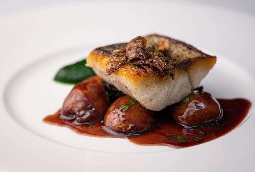 Griddled English Sea Bass Fillet