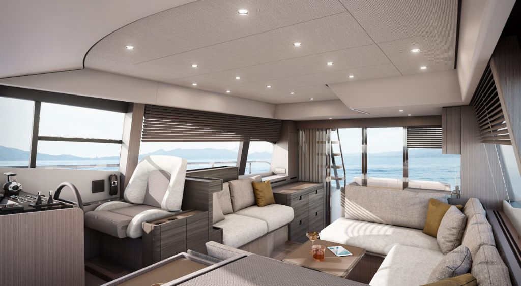 Interior of the Ferretti Yachts 500