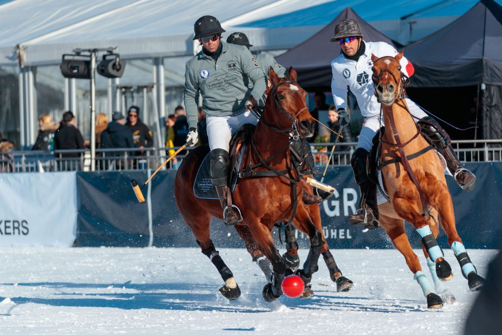 Laurent Perrier at the 18th Bendura Bank Snow Polo World Cup Kitzbühel 2020