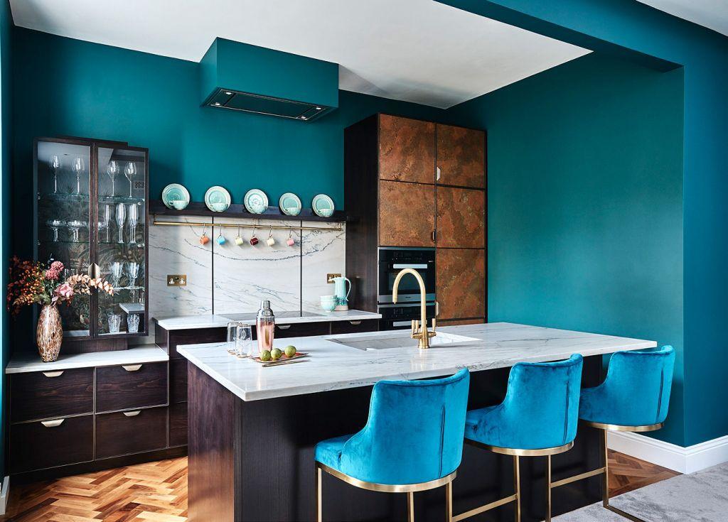 Ledbury Studio Kitchen with Parquet flooring
