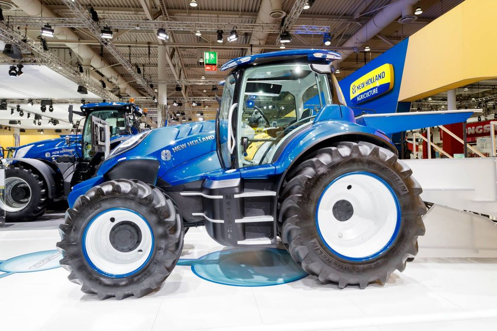 Side view of New Holland Agriculture tractor