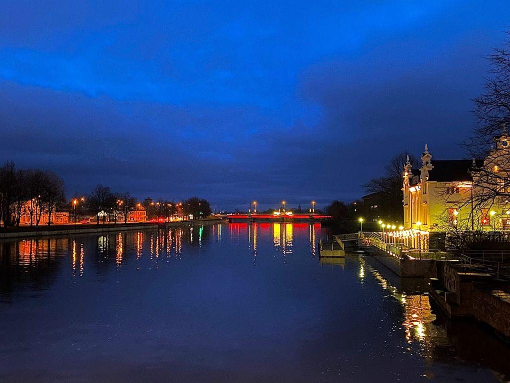 The beauty of Liepaja, Latvia at night